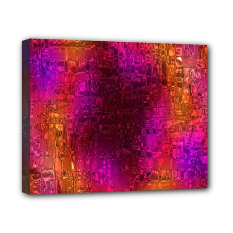 Purple Orange Pink Colorful Canvas 10  x 8