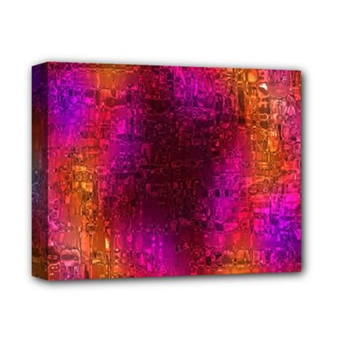 Purple Orange Pink Colorful Deluxe Canvas 14  x 11