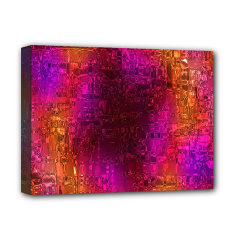 Purple Orange Pink Colorful Deluxe Canvas 16  x 12