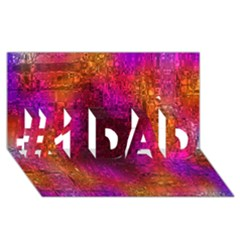 Purple Orange Pink Colorful #1 DAD 3D Greeting Card (8x4)