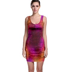 Purple Orange Pink Colorful Sleeveless Bodycon Dress