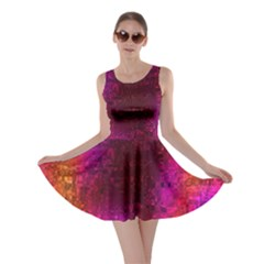 Purple Orange Pink Colorful Skater Dress