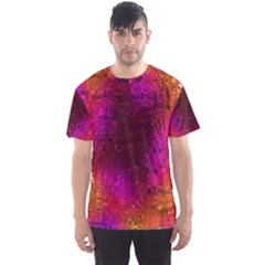Purple Orange Pink Colorful Men s Sport Mesh Tee