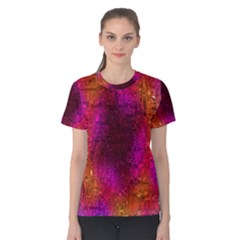 Purple Orange Pink Colorful Women s Cotton Tee