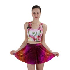 Purple Orange Pink Colorful Mini Skirt