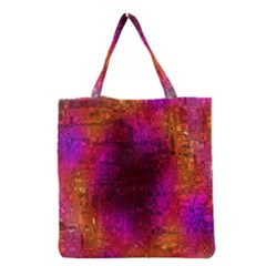 Purple Orange Pink Colorful Grocery Tote Bag
