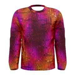 Purple Orange Pink Colorful Men s Long Sleeve Tee