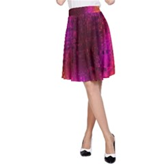 Purple Orange Pink Colorful A-Line Skirt