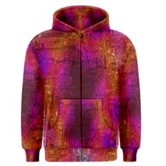 Purple Orange Pink Colorful Men s Zipper Hoodie