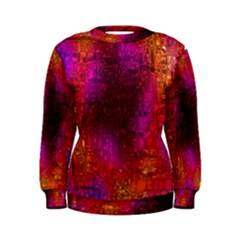 Purple Orange Pink Colorful Women s Sweatshirt