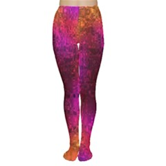 Purple Orange Pink Colorful Women s Tights