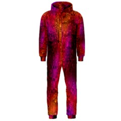 Purple Orange Pink Colorful Hooded Jumpsuit (Men)