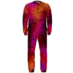 Purple Orange Pink Colorful OnePiece Jumpsuit (Men)