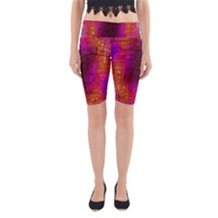Purple Orange Pink Colorful Yoga Cropped Leggings