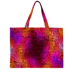 Purple Orange Pink Colorful Large Tote Bag