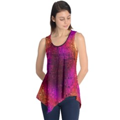 Purple Orange Pink Colorful Sleeveless Tunic