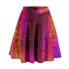 Purple Orange Pink Colorful High Waist Skirt