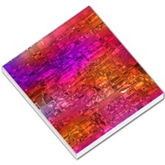 Purple Orange Pink Colorful Art Small Memo Pads