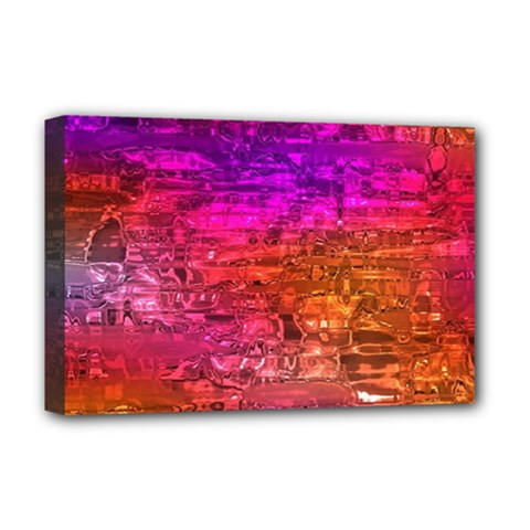 Purple Orange Pink Colorful Art Deluxe Canvas 18  x 12