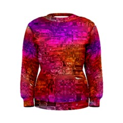 Purple Orange Pink Colorful Art Women s Sweatshirt