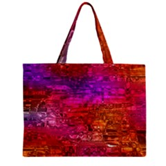 Purple Orange Pink Colorful Art Zipper Mini Tote Bag