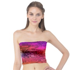 Purple Orange Pink Colorful Art Tube Top