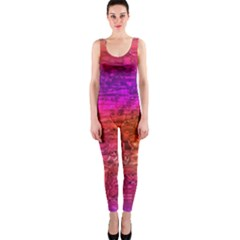 Purple Orange Pink Colorful Art OnePiece Catsuit