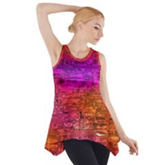 Purple Orange Pink Colorful Art Side Drop Tank Tunic