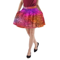 Purple Orange Pink Colorful Art A-Line Pocket Skirt