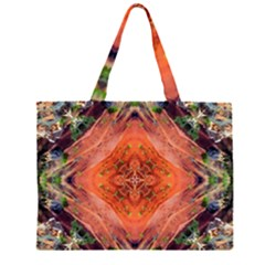Boho Bohemian Hippie Floral Abstract Faded  Large Tote Bag