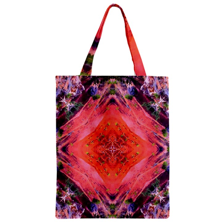 Boho Bohemian Hippie Retro Tie Dye Summer Flower Garden design Zipper Classic Tote Bag
