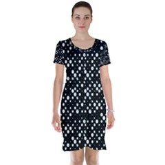 Galaxy Dots Print Short Sleeve Nightdress