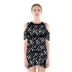 Galaxy Dots Print Cutout Shoulder Dress