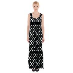 Galaxy Dots Print Maxi Thigh Split Dress