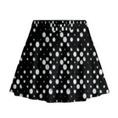 Galaxy Dots Print Mini Flare Skirt