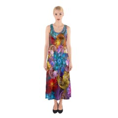 Spirals And Curlicues Sleeveless Maxi Dress