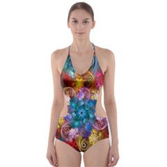 Spirals And Curlicues Cut Out One Piece Swimsuit