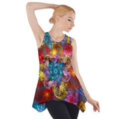Spirals And Curlicues Side Drop Tank Tunic