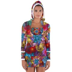 Spirals And Curlicues Women s Long Sleeve Hooded T-shirt