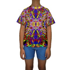 PSYCHO AUCTION Kid s Short Sleeve Swimwear