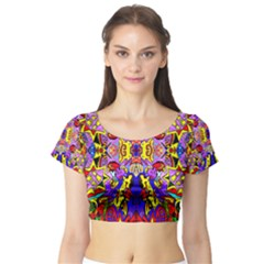 Psycho Auction Short Sleeve Crop Top (tight Fit)