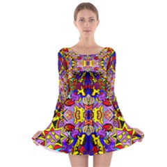 Psycho Auction Long Sleeve Skater Dress