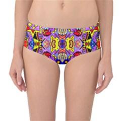 PSYCHO AUCTION Mid-Waist Bikini Bottoms