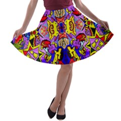 PSYCHO AUCTION A-line Skater Skirt