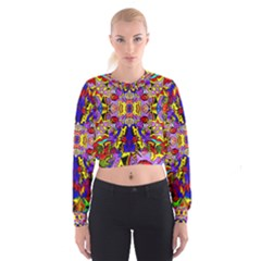 PSYCHO AUCTION Women s Cropped Sweatshirt