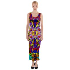 Psycho Auction Fitted Maxi Dress