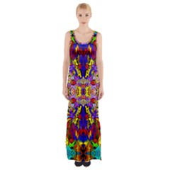 PSYCHO AUCTION Maxi Thigh Split Dress