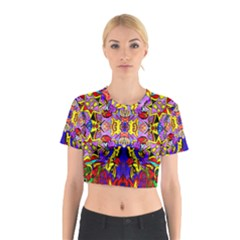 PSYCHO AUCTION Cotton Crop Top