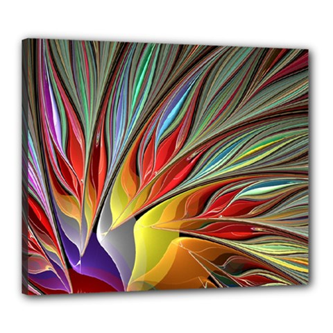Fractal Bird of Paradise Canvas 24  x 20  (Stretched)