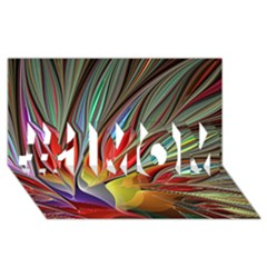Fractal Bird of Paradise #1 MOM 3D Greeting Cards (8x4)